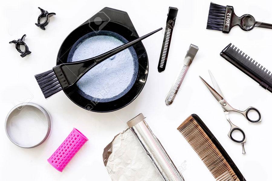 ابزار رنگ و مش ، ابزار رنگ مو ، دوره رنگ مو